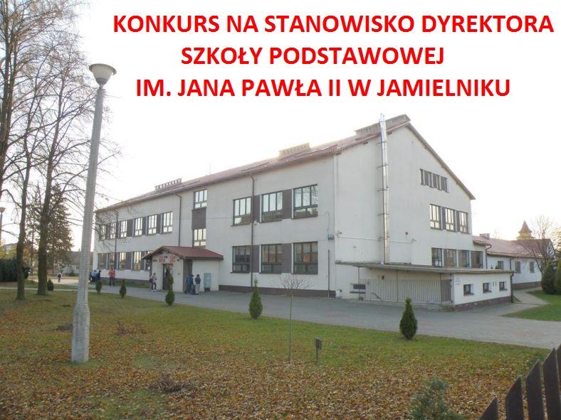Ilustracja do informacji: Wójt Gminy Nowe Miasto Lubawskie ogłasza konkurs na dyrektora Szkoły Podstawowej im. Jana Pawła II w Jamielniku