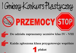 Ilustracja do informacji: Przemocy STOP! Konkurs plastyczny.