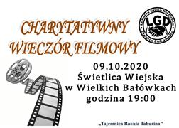 Ilustracja do informacji: Zapraszamy na charytatywny wieczór filmowy