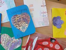 Ilustracja do informacji: Serdeczna Karteczka od uczniów SP w Radomnie