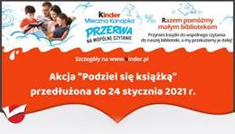 Ilustracja do informacji: Podziel się książką - wspólna akcja bibliotek i Kinder