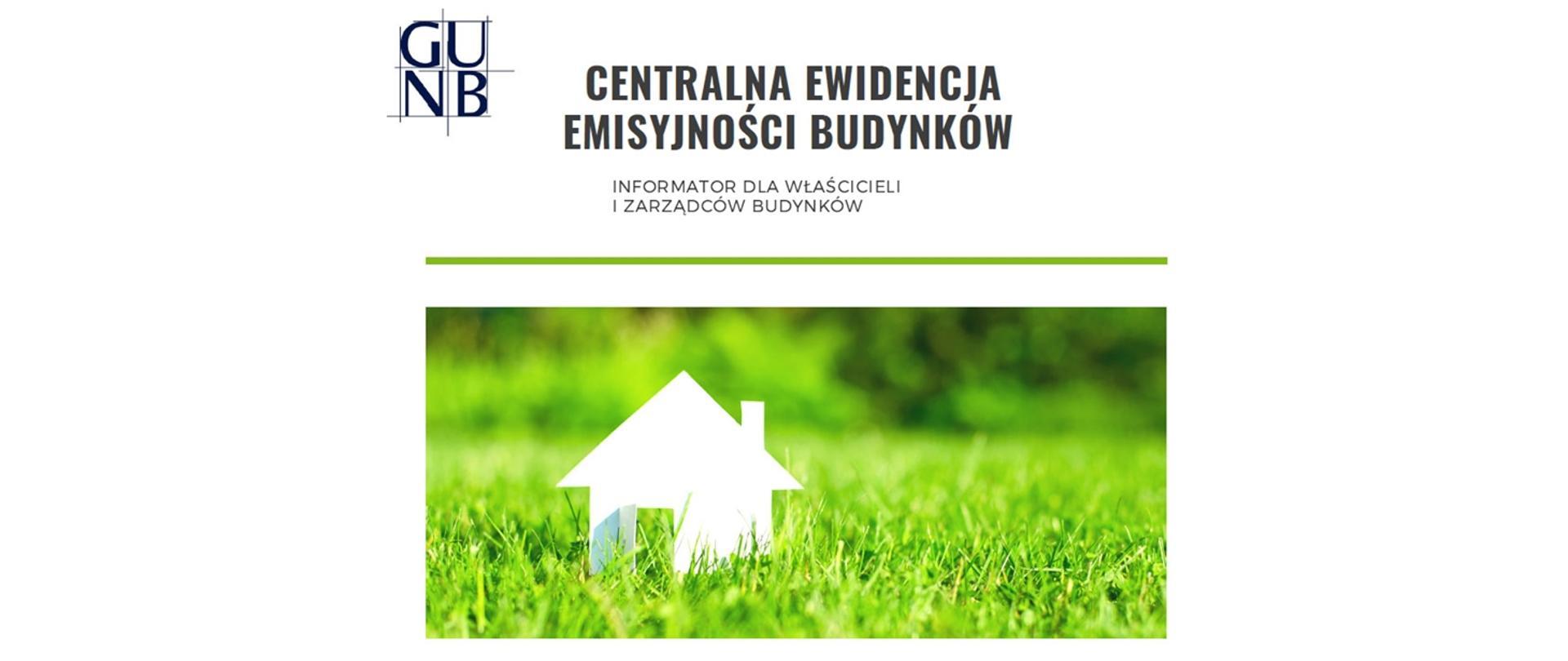 Baner: Centralna Ewidencja Emisyjności Budynków