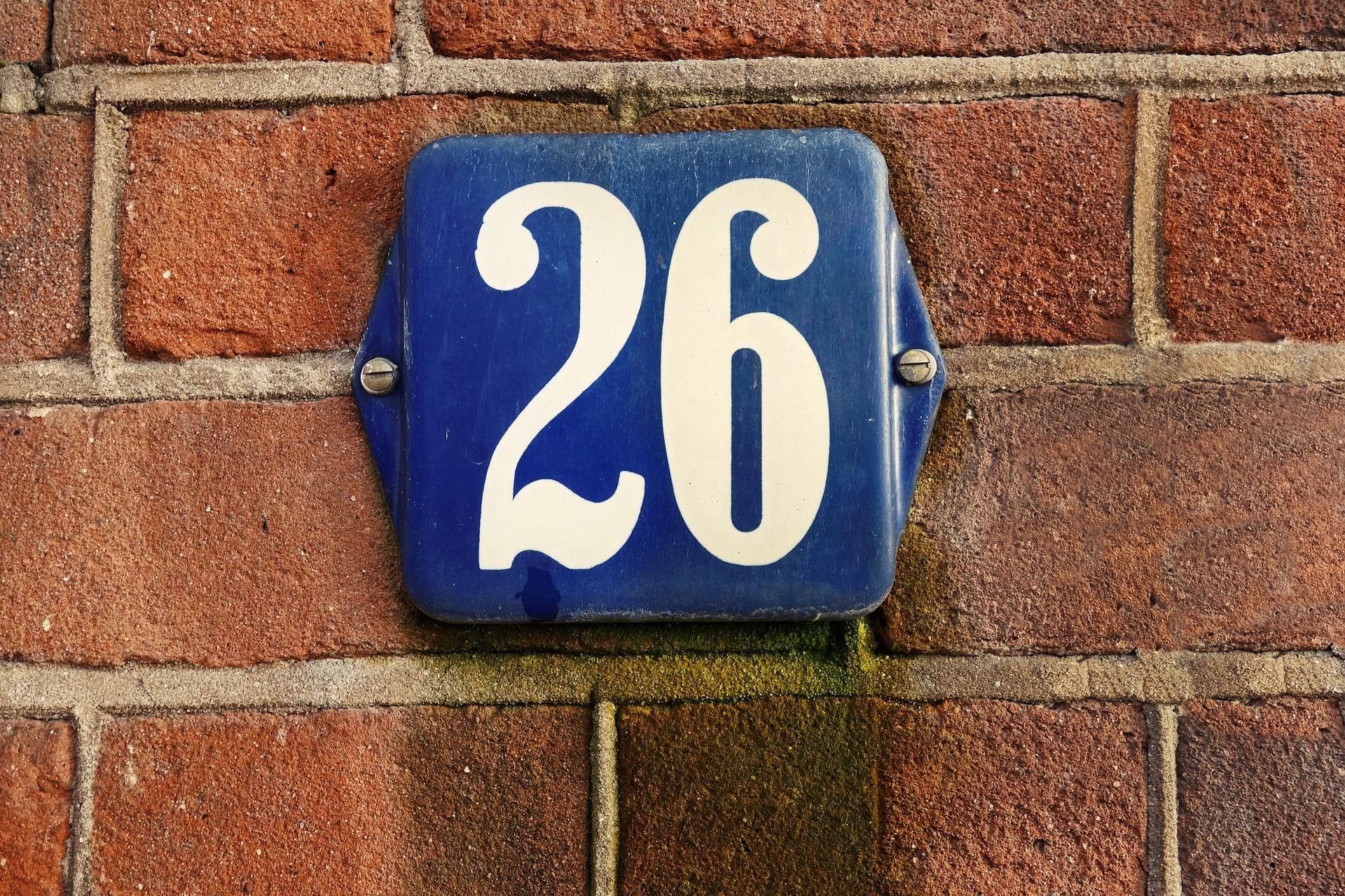 Baner: numer domu tabliczka